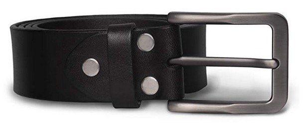 M.R Herren Ledergürtel aus schwarzem Leder mit Dornschließe für 11,54€ bei Prime (statt 21€)