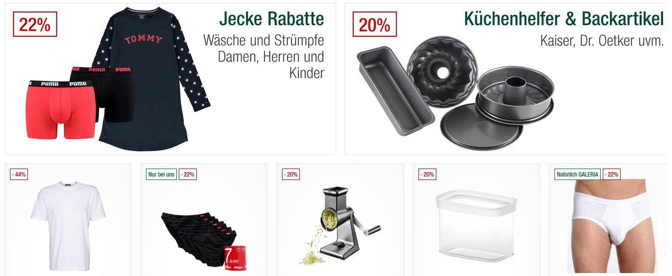 Galeria Kaufhof Sonntagsangebote   z.B. 20% auf ausgewählten Schmuck, Sneaker, Roller, Hosen uvm.