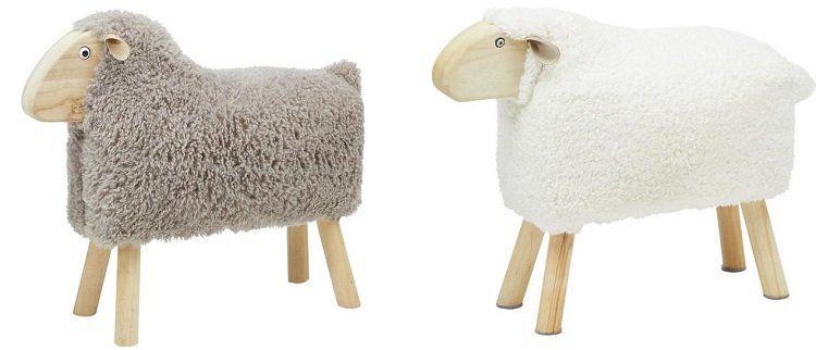 Schafhocker für Kinder in zwei Größen und Farben ab 18,95€