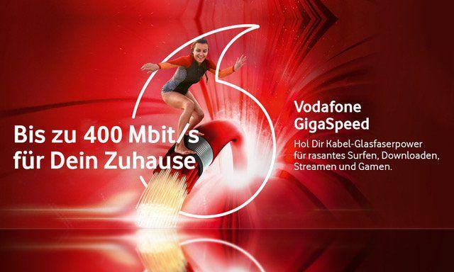 Endet heute! 🚀 Vodafone Red Internet & Phone 400 Cable nur eff. 22,50€ mtl. bei 2 Jahren Laufzeit 👉 Wechseloption möglich!