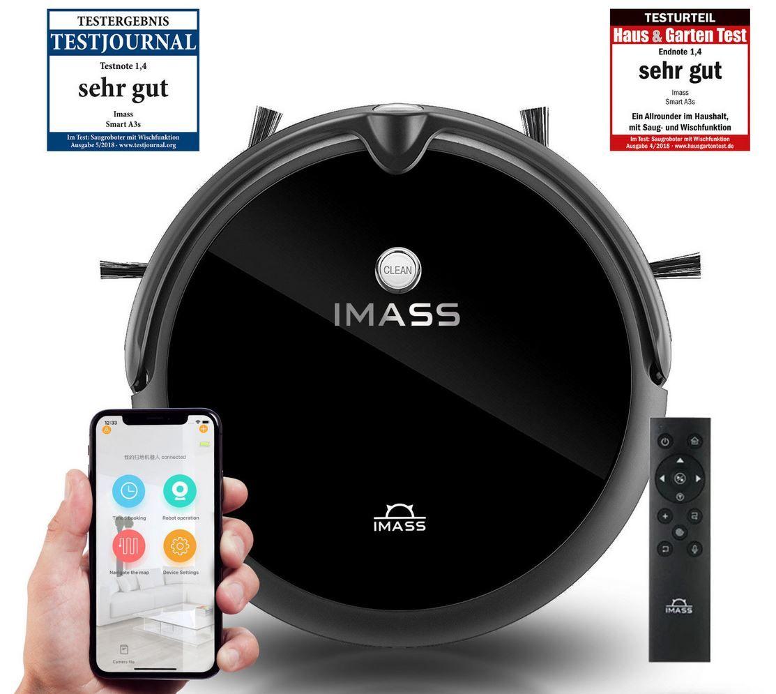 IMASS A3s App gesteuerter Saugroboter mit Wischfunktion für 149,90€ (statt 179€)