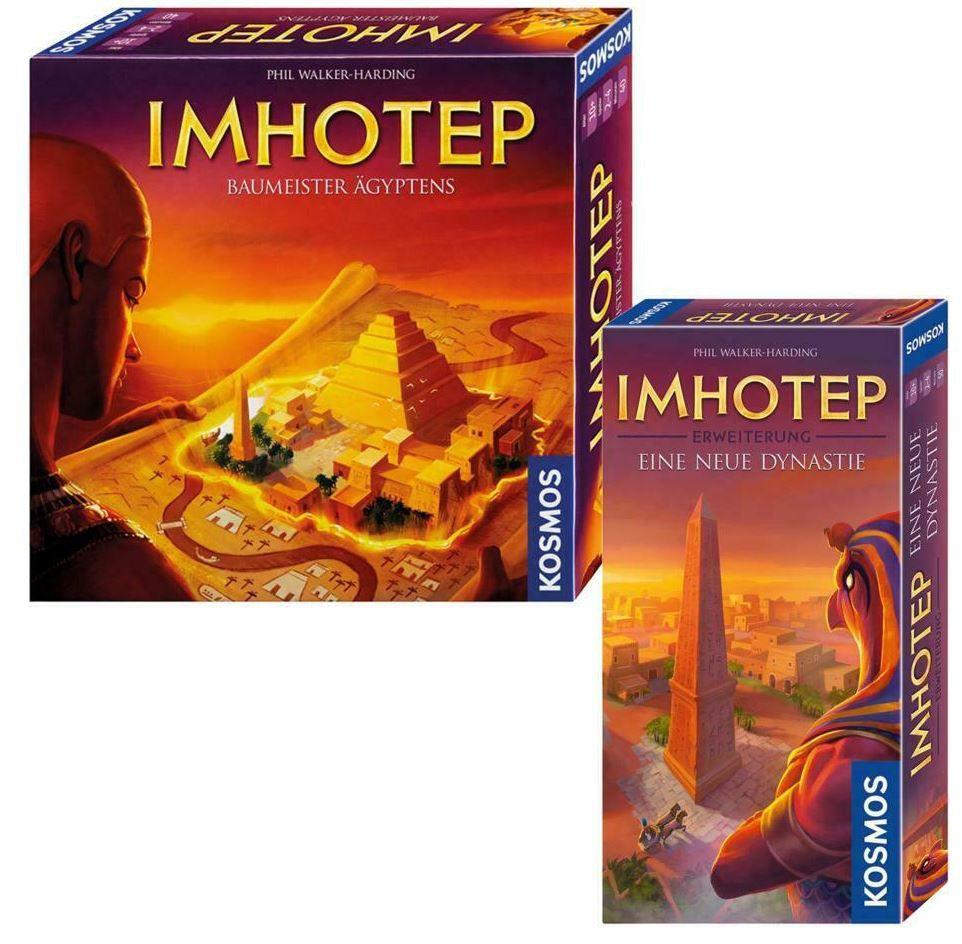 Kosmos Imhotep Bundle: Brettspiel Baumeister Ägyptens + Erweiterung neue Dynastie für 32,50€ (statt 55€)