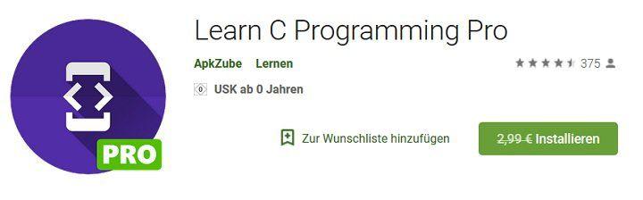 Android: Learn C Programming Pro gratis (statt 2,99€)