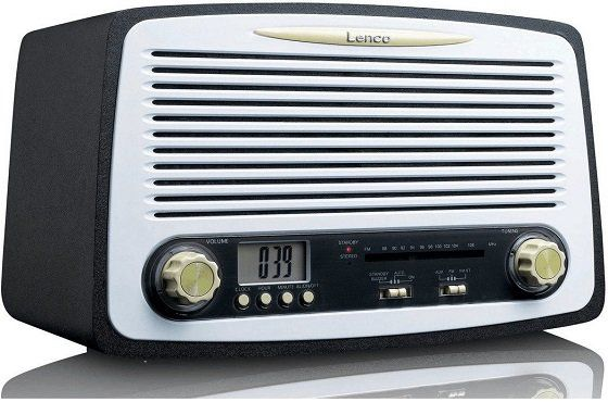 LENCO SR 02GY Uhrenradio in Grau für 37€ (statt 45€)