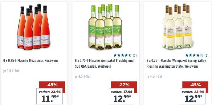 Nur noch 2 Tage! Bei Lidl 10 Tage lang keine Versandkosten (50€ MBW) bezahlen   günstig z.B. Wein bestellen