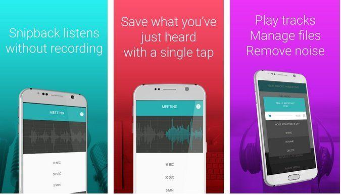 Android: Lifehacker smart voice recorder   Snipback PRO HD gratis (statt 2,49)