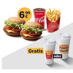 McDonald´s Ostercountdown 2019 mit täglich wechselnden Deals – heute: 🍔+🍔+🥤+🍟 für 6,99€ + Gratis-Becher