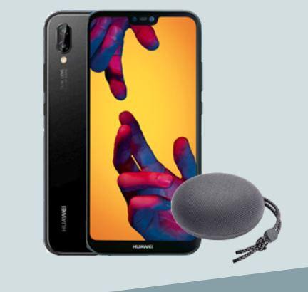 Huawei P20 Lite mit Huawai Bluetoothbox nur 25€ + Blau Allnet Flat im O2 Netz mit 3GB LTE für mtl. 9,99€