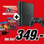 PS4 Slim 1TB + Red Dead Redemption 2 + Spider-Man für 349€ + 20€ Gutschein (statt 400€) bis Mitternacht