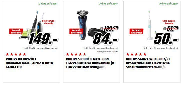 Media Markt Mega Marken Sparen: günstige Artikel von LG, Philips, Sony, Samsung und Pure