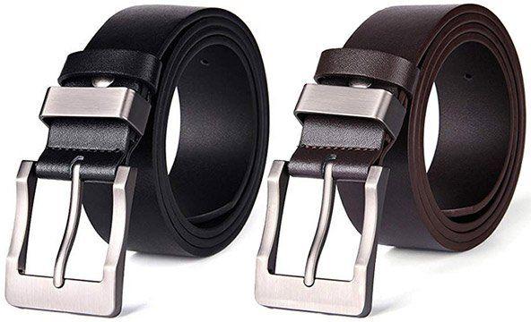 Herren Ledergürtel mit Dornschließe in Schwarz oder Braun ab 8,24€   Prime