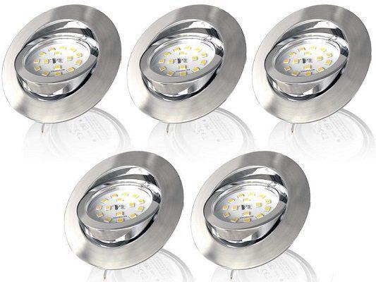 B.K. Licht 5er Set LED Einbaustrahler Pegasus ab 35,99€ (statt 45€)
