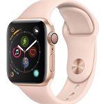Apple Watch Series 4 40mm Alu-Gehäuse und goldfarbenem Sportarmband für 379,90€ (statt 405€)