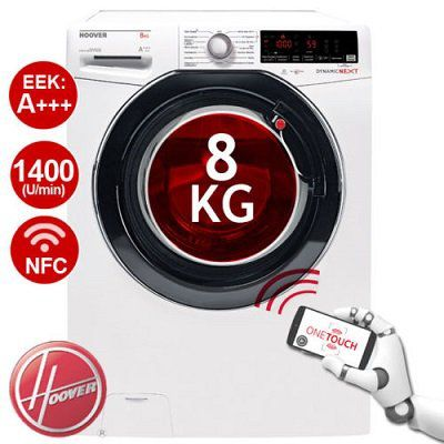 HOOVER Waschmaschine DXOA Q48AHB7 84 (8 kg, NFC, 1400 U/Min) für 299,90€ (statt 399€)