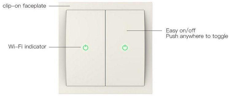 Koogeek WiFi Smart Lichtschalter für z.B. Apple HomeKit & Siri für 21,99€ (statt 57€)