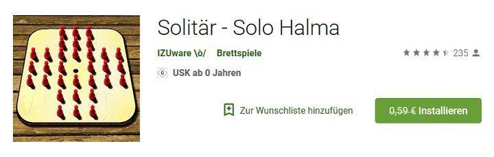 Android: Solitär   Solo Halma kostenlos (statt 0,59€)