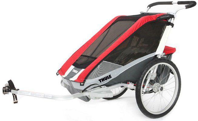 THULE Kinderfahrradanhänger Chariot Cougar 1 Red für 499,99€ (statt 599€)