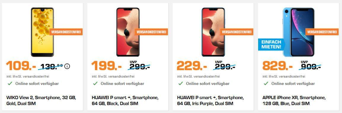Saturn Smartphone Purzel Preise: z.B. SONY Xperia XA2 Plus 32 GB Dual SIM für 289€ (statt 369€)