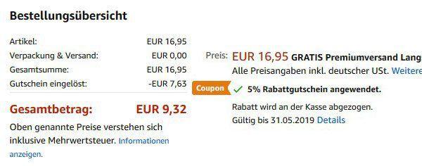 45% Rabatt auf versch. Weekender ab 9,32€   Prime