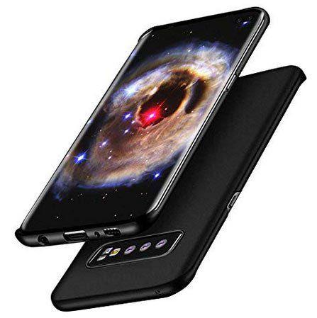 Schmale Schutzhülle für Samsung Galaxy S10 Plus in Schwarz oder Blau für 5,49€ (statt 11€) – Prime