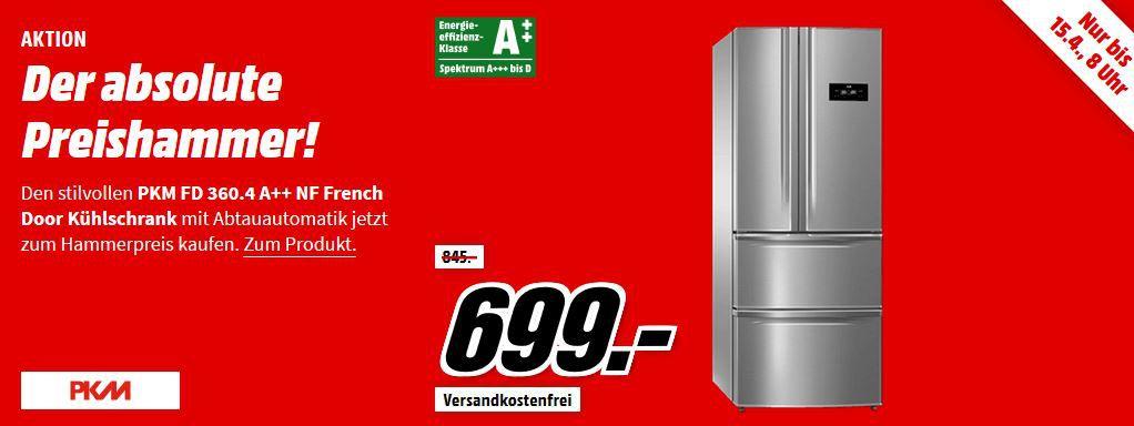 PKM FD 360.4 NF French Door Gefrier  u. Kühlschrank (A++) für 699€ (statt 789€)