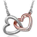 """Kami Idea Damenkette """"Herz zu Herz"""" mit Swarovski Steinen + Armband für 12,99€ (statt 50€)"""