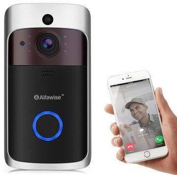 Alfawise L10   Türklingel mit 720p Cam & App Anbindung für 30,43€