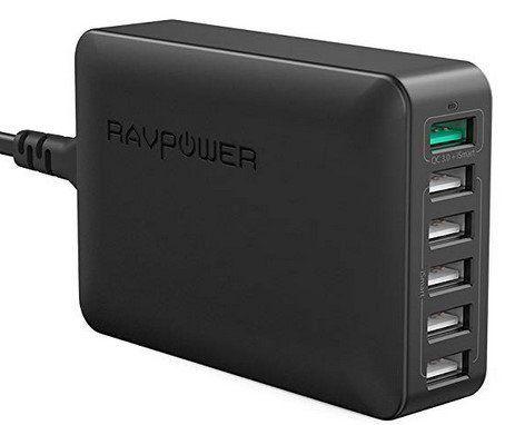 RAVPower RP PC029   6 Port 60W Ladegerät mit QC 3.0 für 18,49€ (statt 27€)