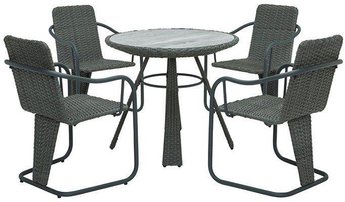 Gartenset Christina 5 teilig (4 Stühle & 1 Rundtisch) für 226,16€ (statt 299€)