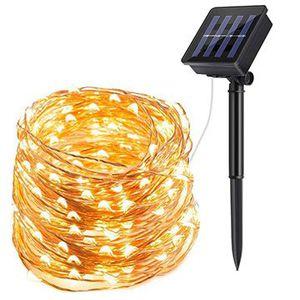 22 Meter Solar Lichterkette mit 200 LEDs für 8,99€   Prime
