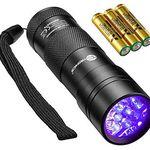 TaoTronics FL001 – Mini UV-Taschenlampe mit 12 LEDs & 3 AAA Batterien für 4,99€ – Prime