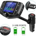 Nulaxy KM29 – Bluetooth FM-Transmitter Farbdisplay & QC 3.0 für 12,99€ (statt 20€)