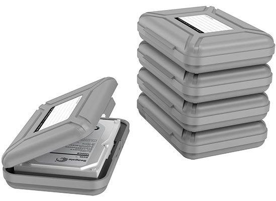 5er Pack Schutzboxen für 3,5 Festplatten für 13,19€   Prime