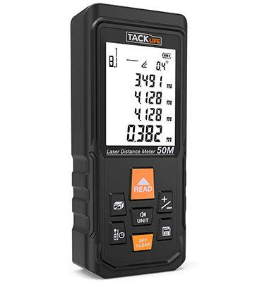 Tacklife S3 50 Laser Entfernungsmesser mit Selbstkalibrierung für bis zu 50m für 21,99€ (statt 35€)