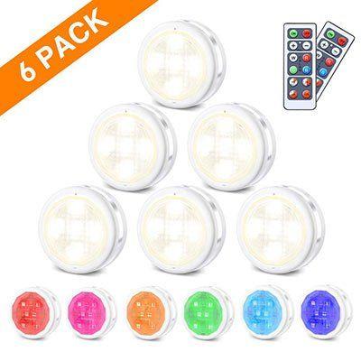 6 LED RGB Nacht  bzw Schranklichter inkl. Fernbedienung für 10,49€   Prime
