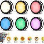 6er Pack: LED-Nacht- bzw. Schranklicht mit Fernbedienung 4 Farben & 3 Modi für 11,39€ – Prime