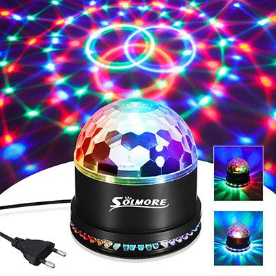 Discokugel mit 51 LEDs & 7 Farben für 9,99€   bei Prime (statt 20€)