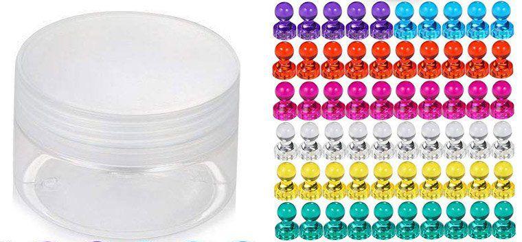 60 farbige Magnete für Kühlschrank, Tafel oder Whiteboard für 8,39€   Prime