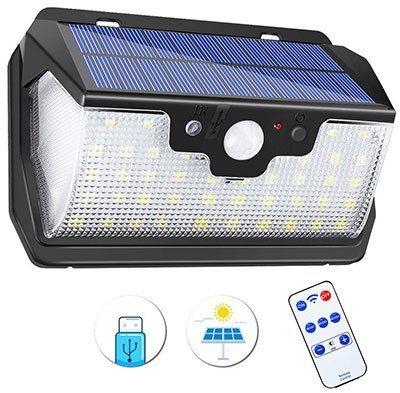 Solarleuchte für Außen mit Fernbedienung & 3 Modi für 11,99€   Prime