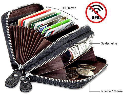 Lebexy Kartenetui aus Leder mit RFID Schutz für 9,24€   Prime