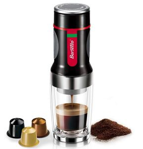 Barsetto Espresso Hand Kaffeemaschine 15 Bar für Kapseln u. Filterkaffe ab 25,99€ (statt 52€)
