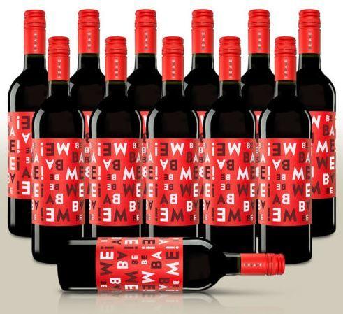 Bebame Tempranillo   12 Flaschen spanischer Rotwein für 31,99€