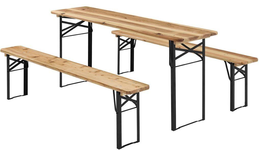Juskys Bierzeltgarnitur Tisch & 2 Bänke für 54,95€ (statt 60€)