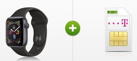 Apple Watch Series 4 mit 44mm und Sport Band für 29€ + Telekom Allnet Flat von mobilcom mit 8GB für 31,99€ mtl.