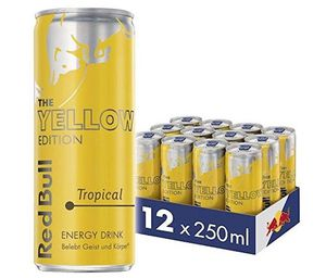 12 Dosen Red Bull Energy Drink Tropical Yellow Edition ab 11,14€ inkl. Pfand