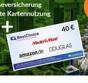 Mastercard Gold der TF Bank (gebührenfrei) mit 40€ BestChoice Gutschein