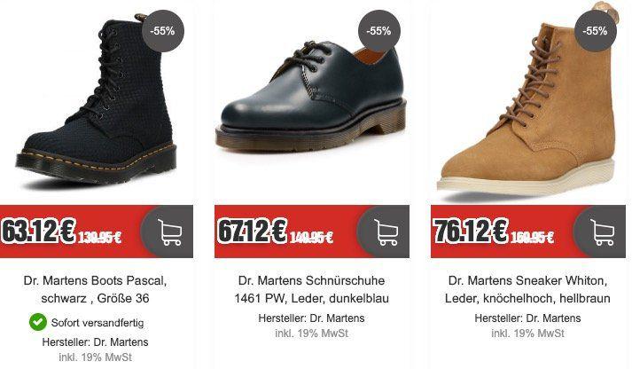 Dr. Martens Sale bei Top12   z.B. Dr. Martens Newton Boots in Cherry Red für 77,24€ (statt 117€)