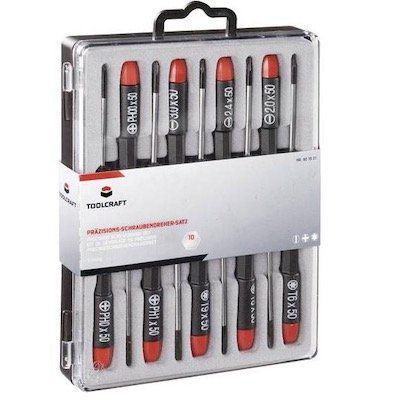 Toolcraft Elektronik  und Feinmechanik Schraubendreher Set für 11€ (statt 19€)