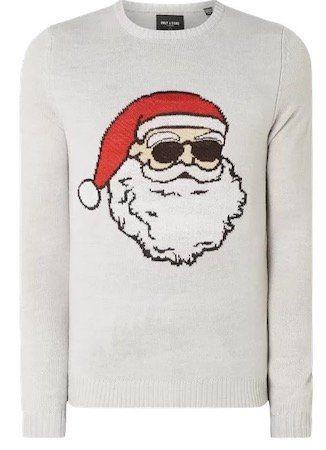 Only & Sons Pullover mit Weihnachtsmann Motiv für 9,99€ (statt 24€)   nur S & L