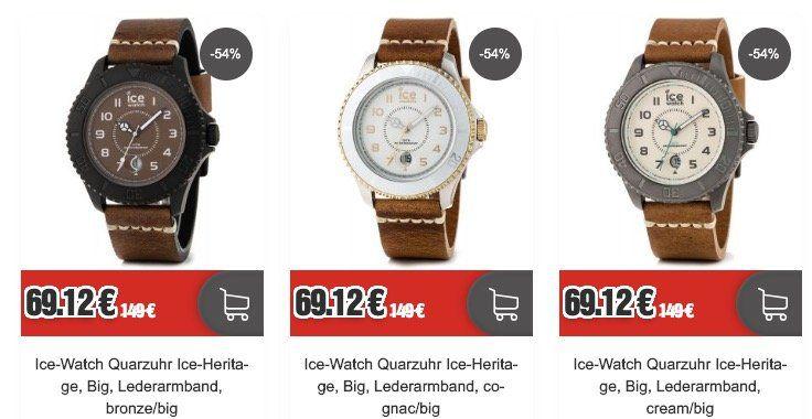 Ice Watch Heritage Big Uhr mit Lederarmband für 74,24€ (statt 149€)
